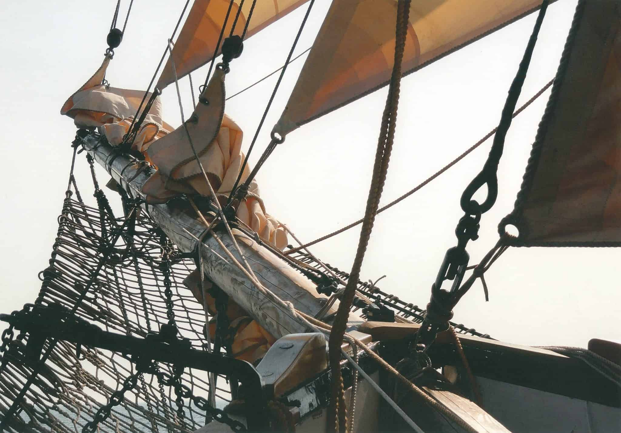 The Bolt Rope located in the headsail