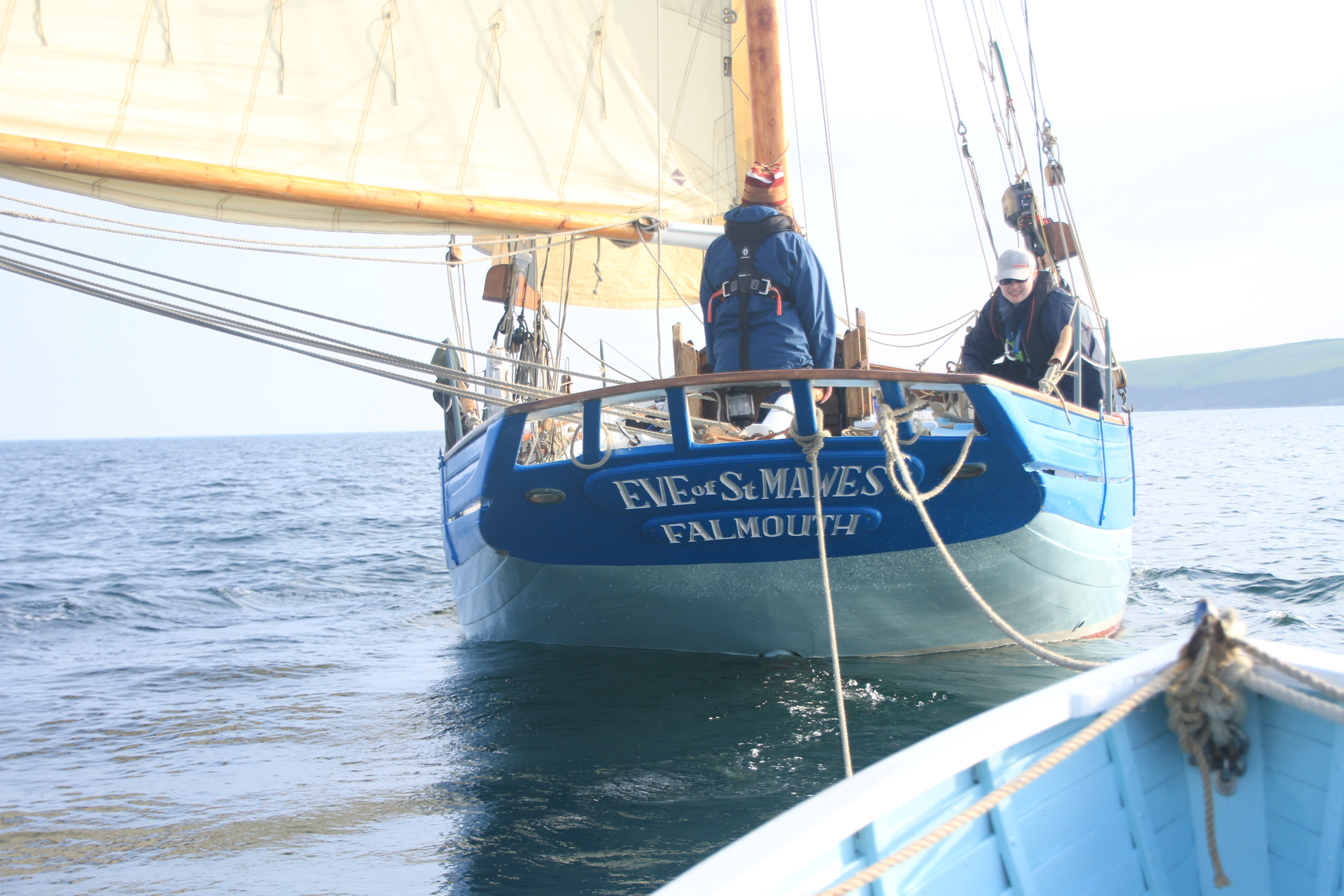 Towing No 8 behind Eve