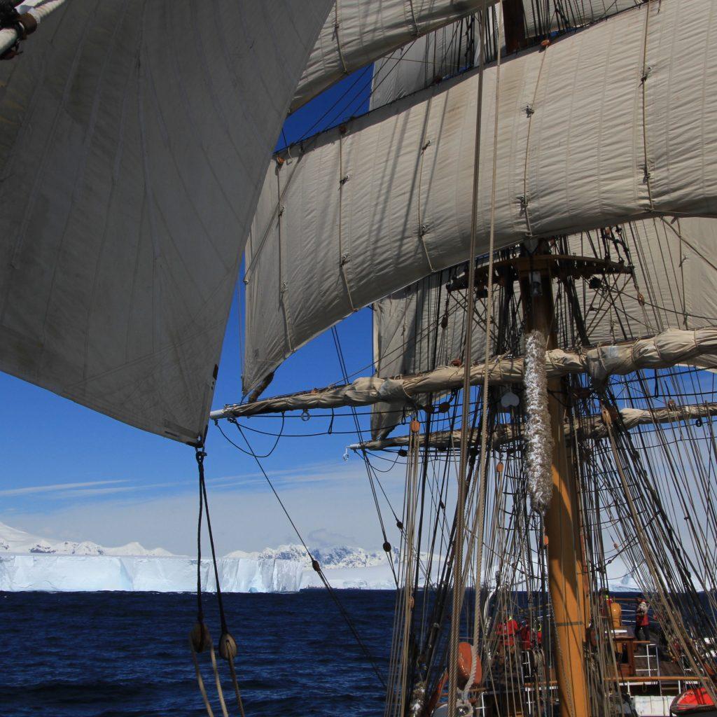 Europa Leaving Antarctica