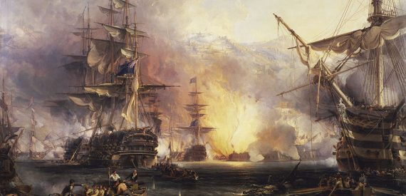 Bombardment of Algiers 1816 by Chambers from the National Maritime Museum