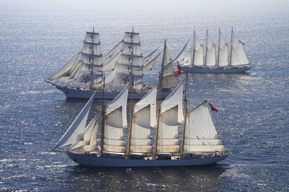 Portuguese Fleet today -Creoula, Sagres and Santa Maria Manuela
