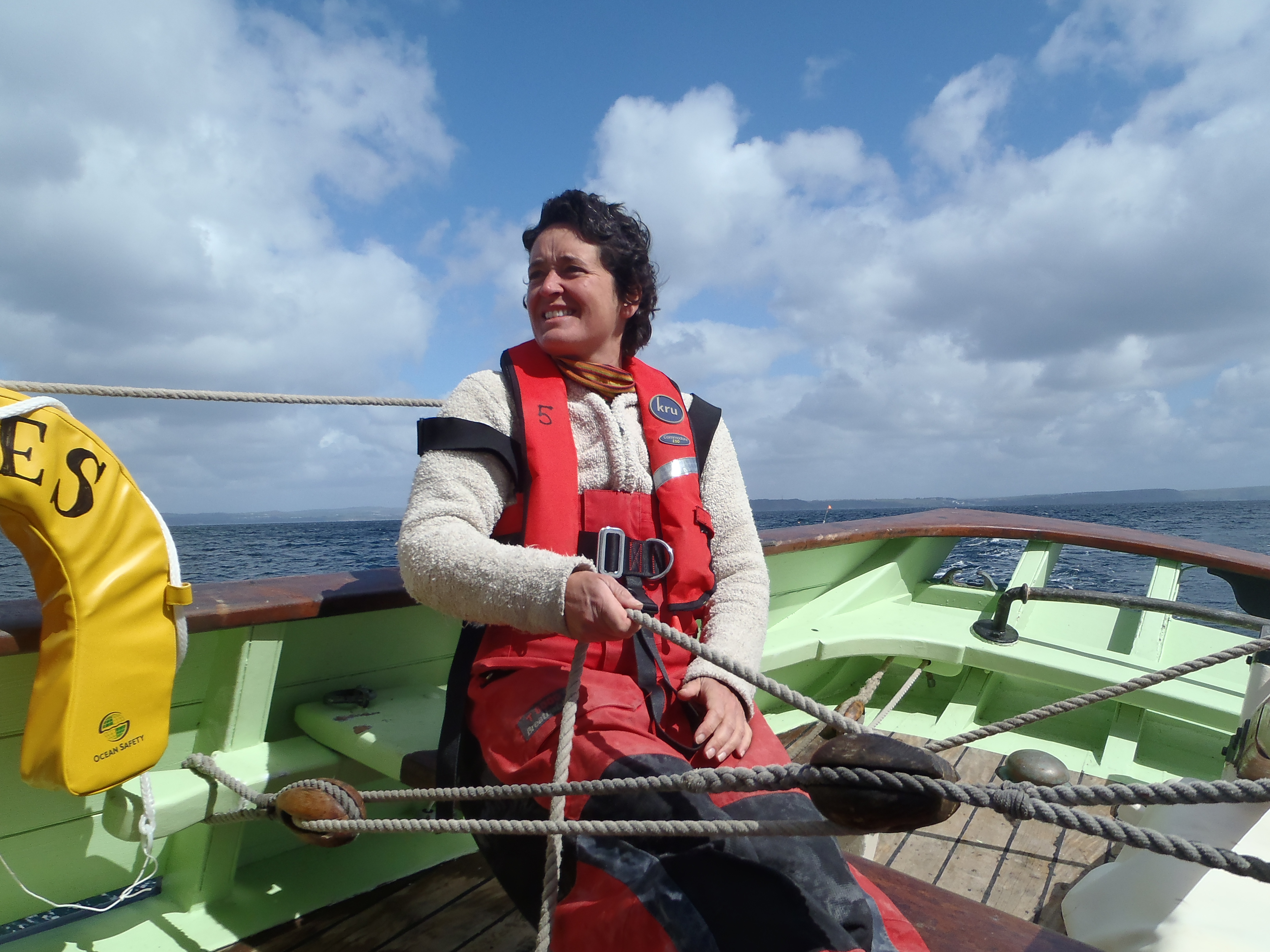 Feeling seasick? take the helm and concentrate on something else