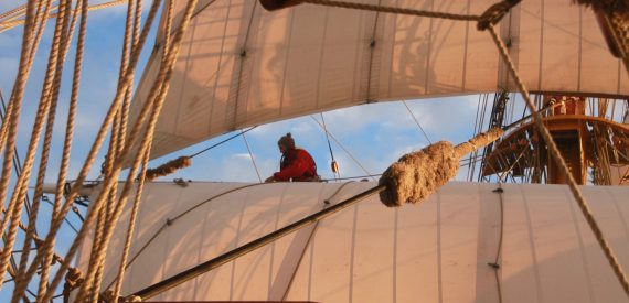 Plenty of action aloft and on deck at tall ships race 2020