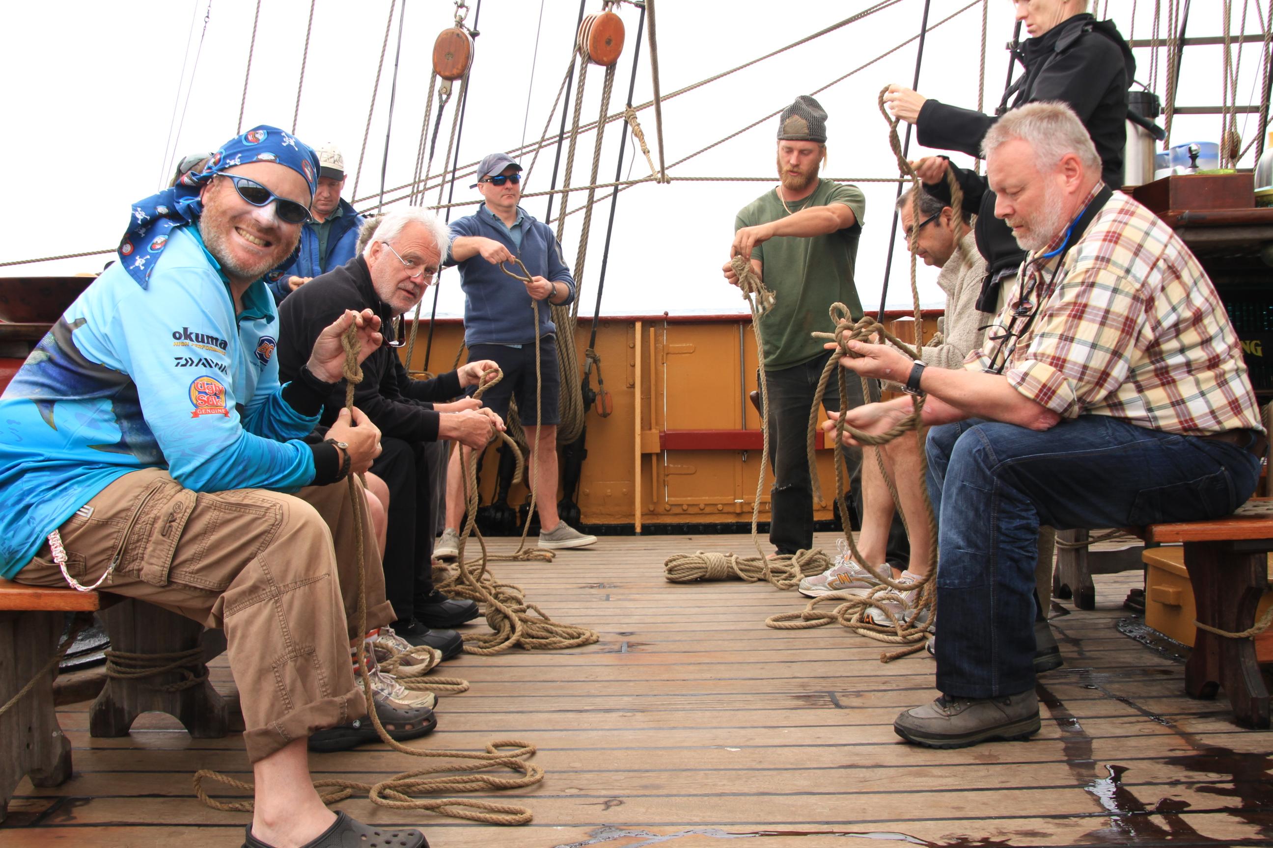 Footwear onboard the boat