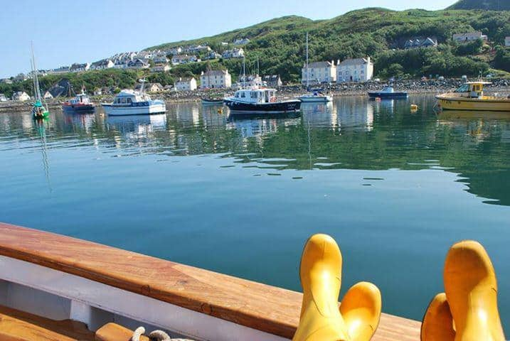 RNLI footwear choice for Scotland - Yellow wellies
