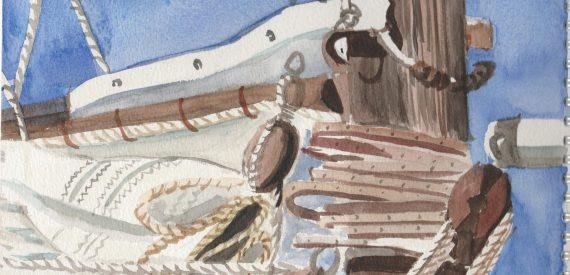 sails art at sea