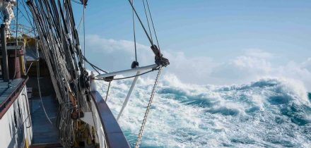 Tall Ship Sailing on Morgenster with Classic Sailing by Richard Sibley