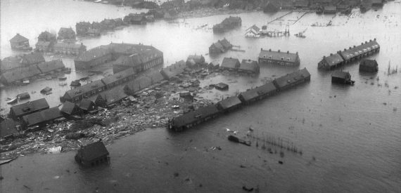 The North Sea Flood of 1953. Zuid Beveland Holland