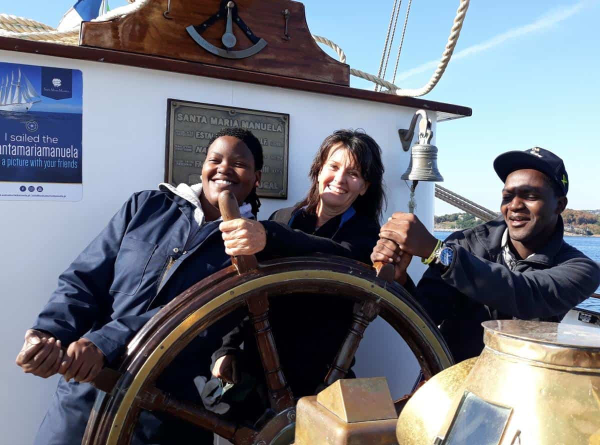 helming a mighty tall ship