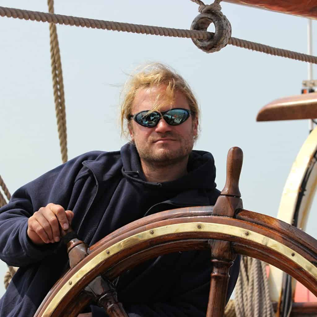 Captain Fabian on Eye of the wind
