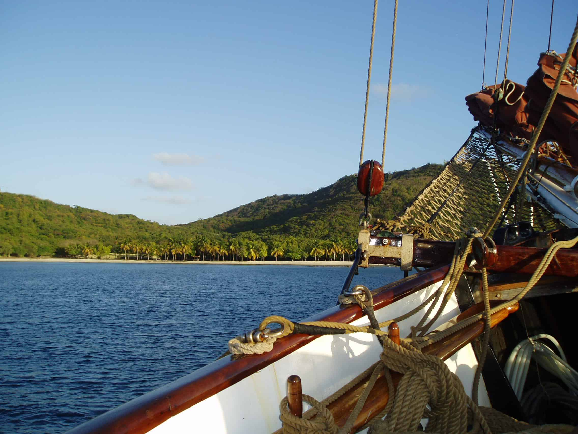 Eye of the Wind Anchored off Guadeloupe