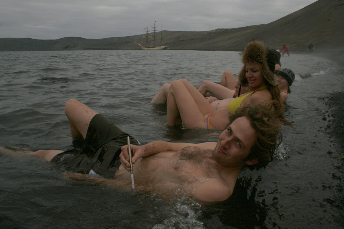 Deception Island hot springs - bring your bikini and fur hat