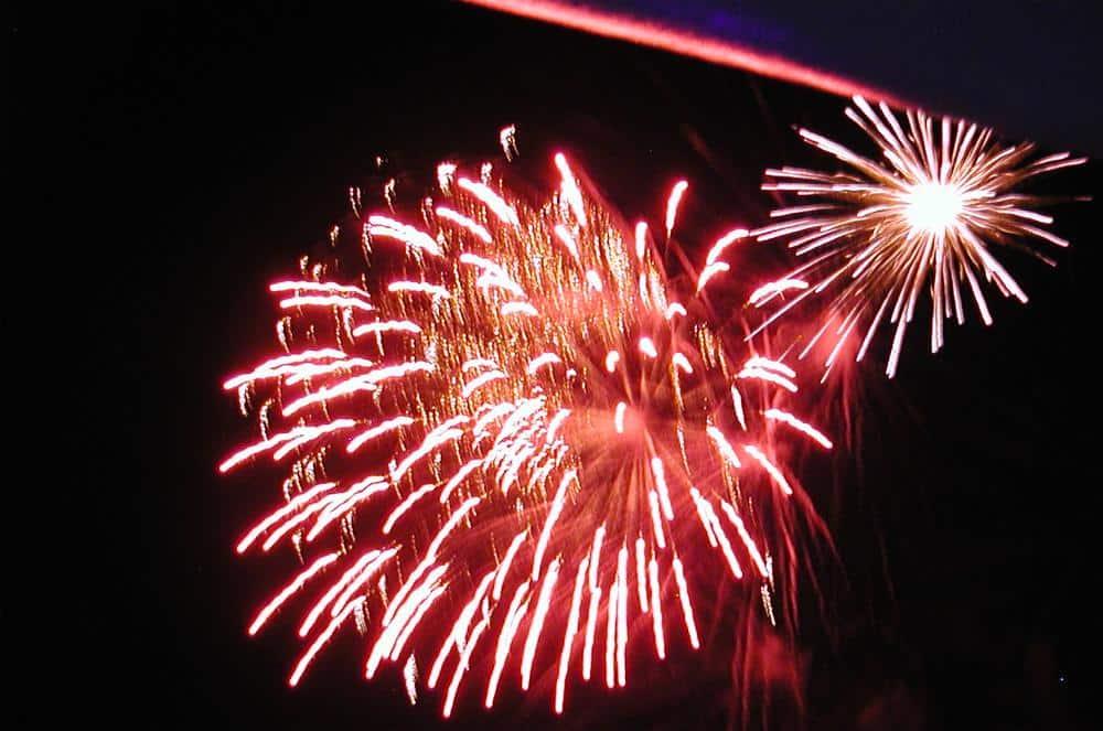 Dartmouth Firework display on Pilgrim