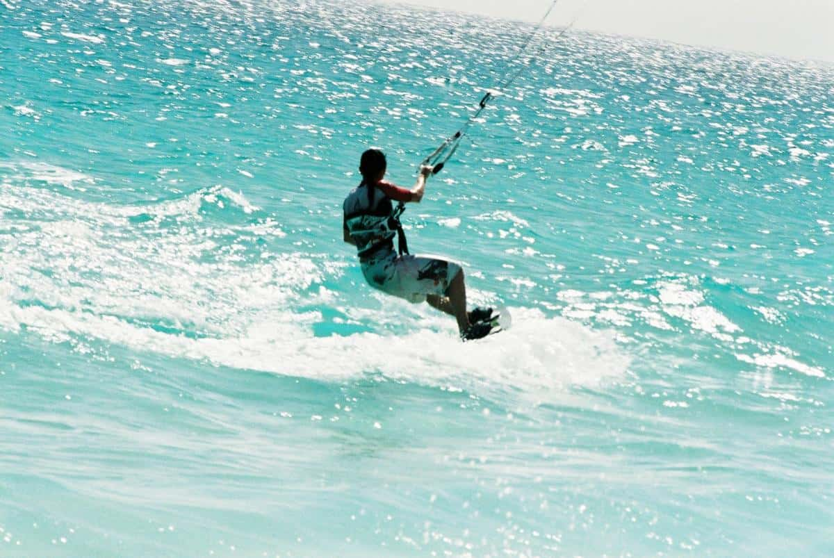 kite surfing in windy canaries