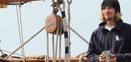Xavier takes a teabreak - ships engineer
