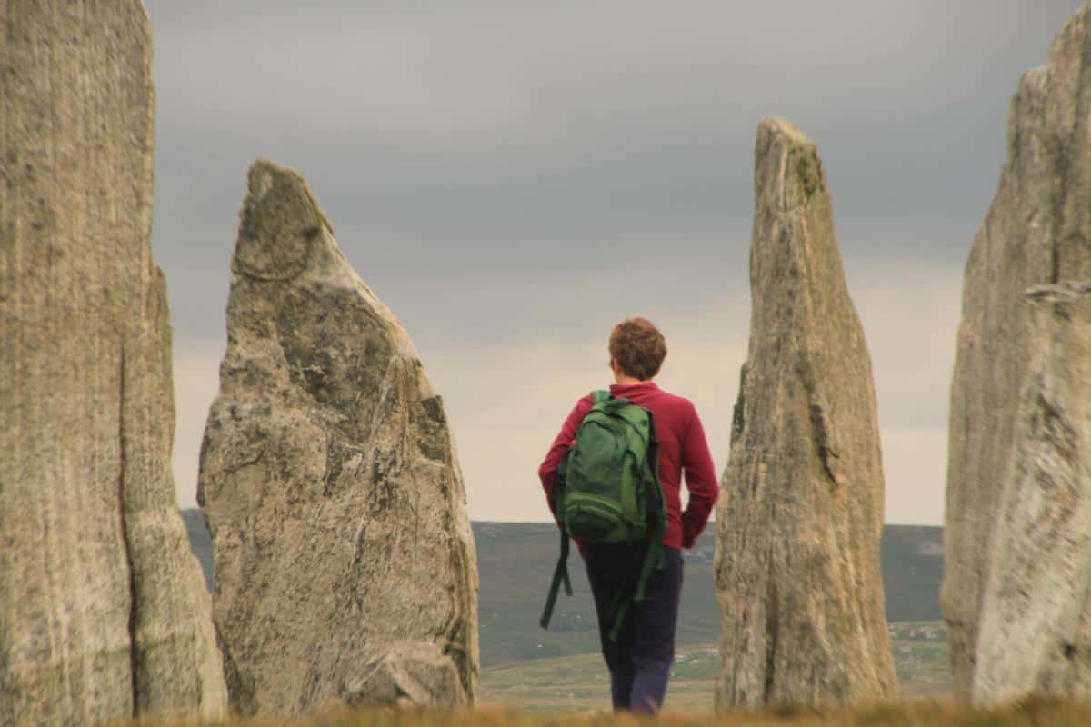 Sail Scotland. Outer Hebrides. Neolithic standing stones of Callanish on Lewis