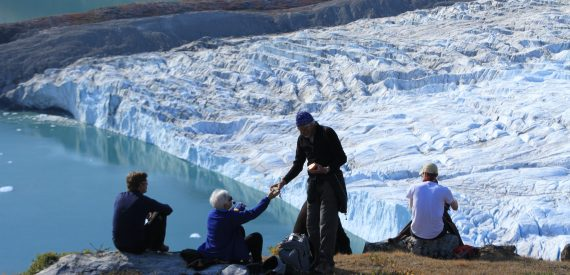 picnic by the glacier in West Greenland