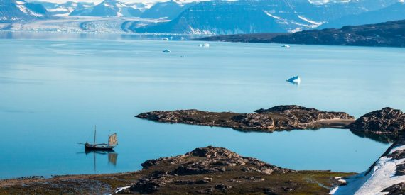 Tall ship Tecla in Greenland