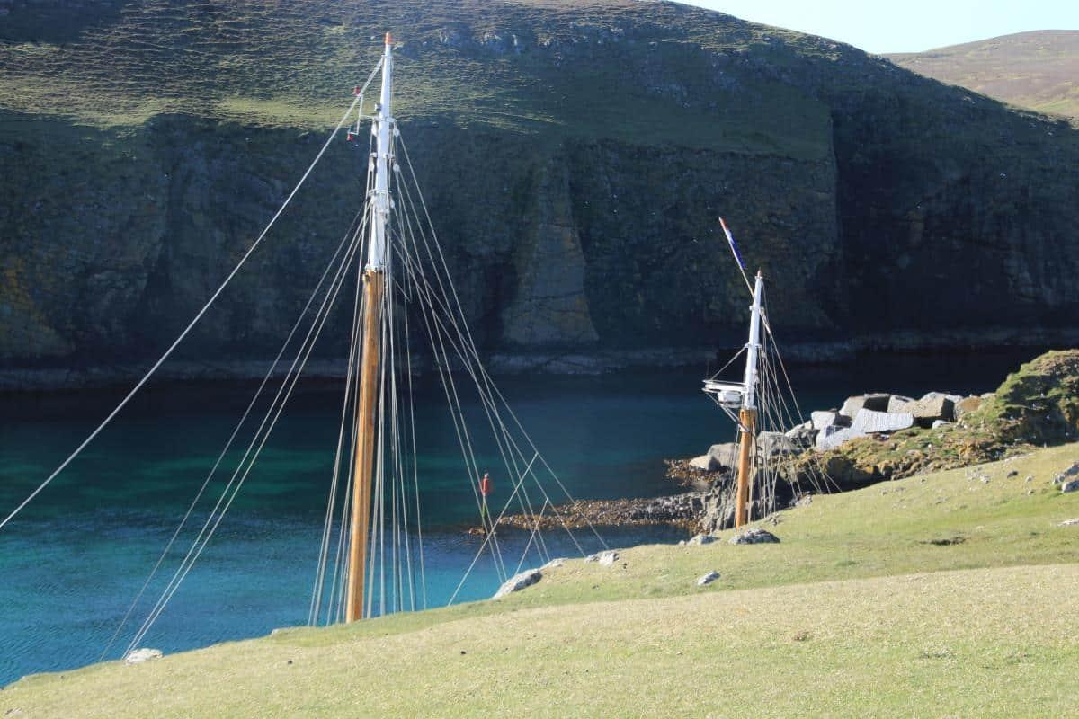 Little secret harbour on Fair Isle