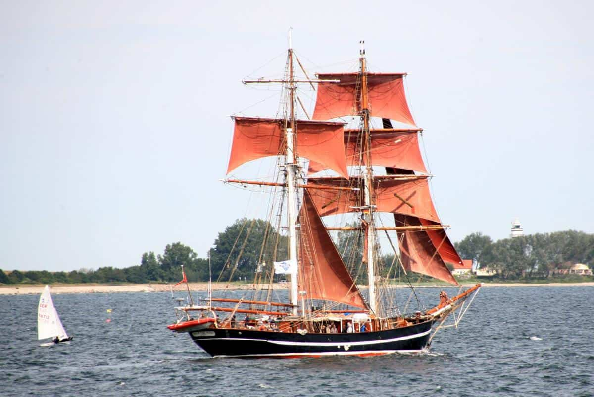 Eye of the Wind tall ship in Baltic waters