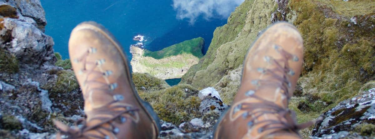 Vertigo? or the best place to be for a tall ship sailor? Faroes summit
