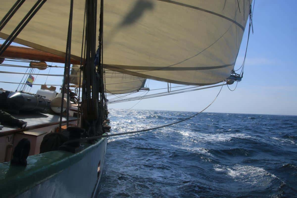 ocean sailing on Tecla