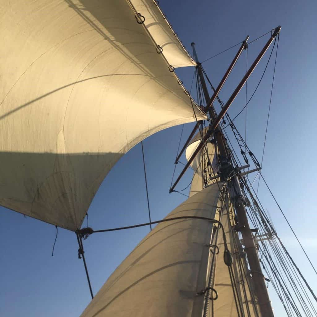 Sailing holidays on Anny of Charlestown – book a sailing break via Classic Sailing