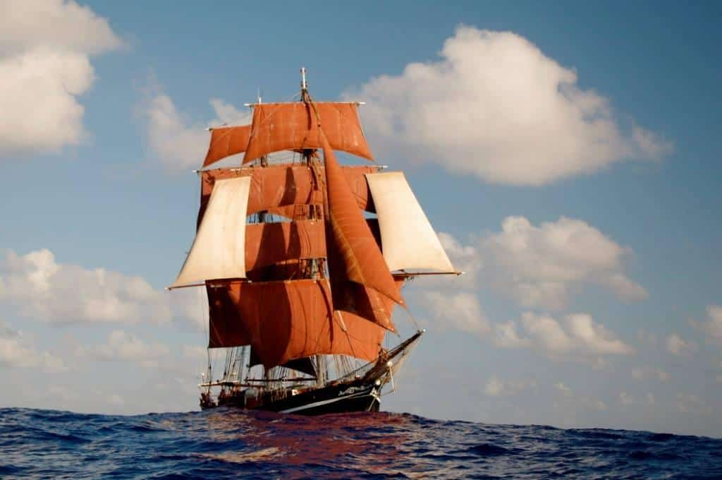 Eye of the Wind is one of only a few tall ships that still have stun sails