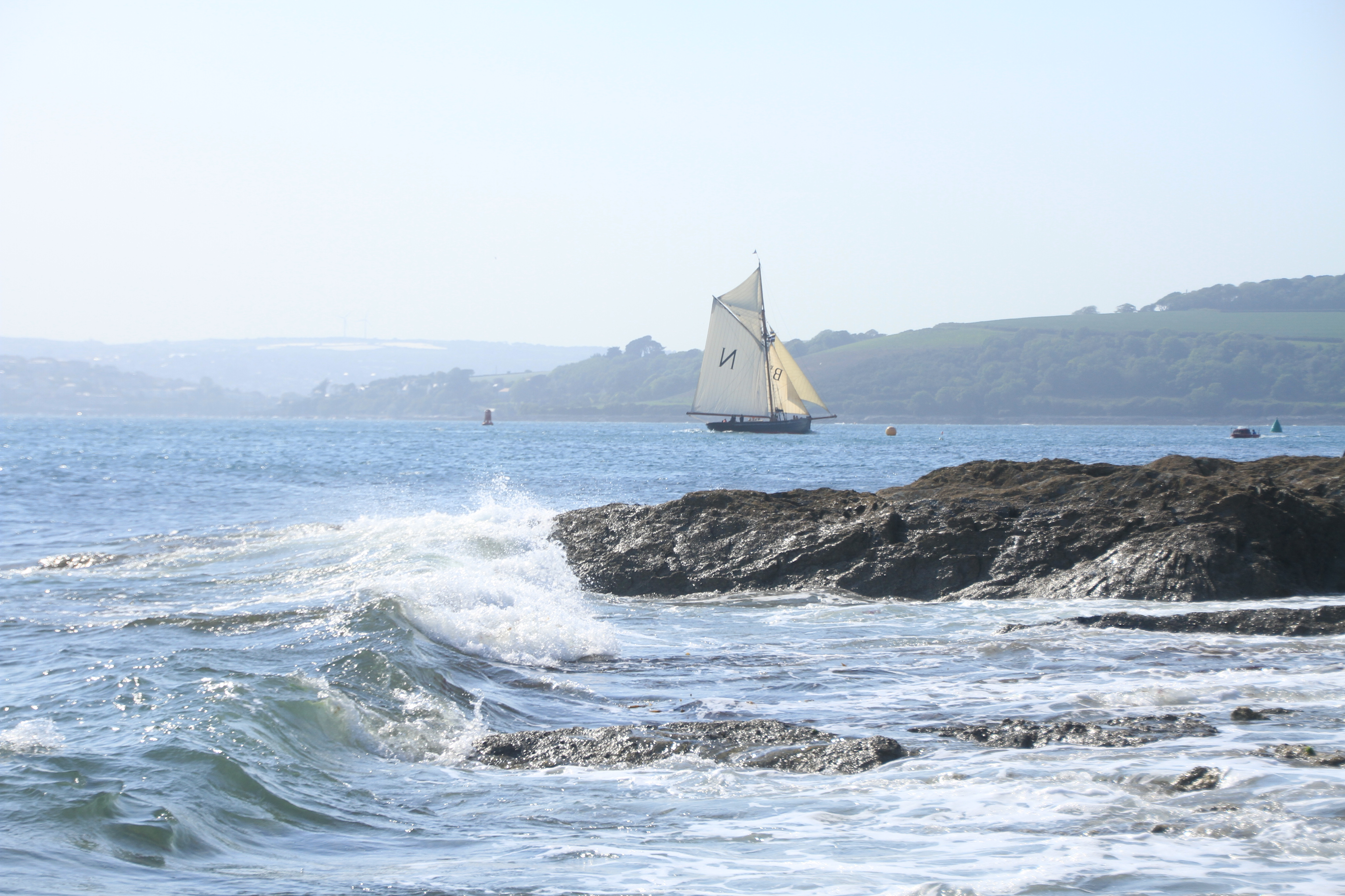 The deep harbours of Cornwall and Devon are ideal for Mascotte