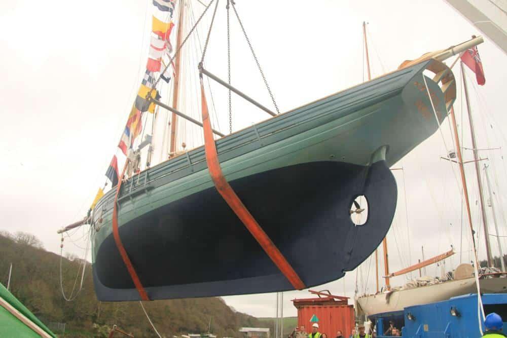 Classic Sailing Pilot Cutter Directory - Freja launch day