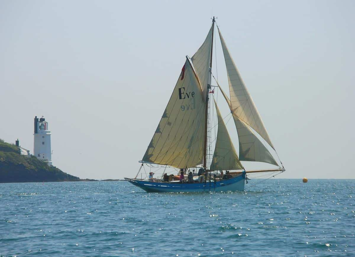 We launched Classic Sailing Ltd with Eve of St Mawes