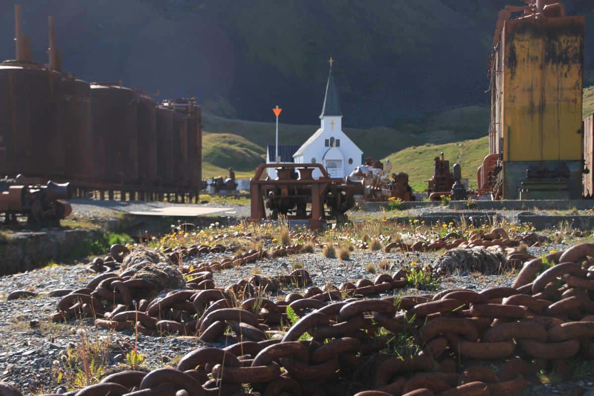 Norwegian chapel at Gryitviken whaling station.