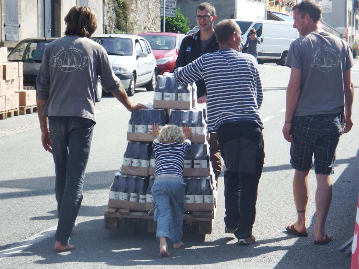 Hard not to attract local attention delivering Devon Ale by sailing lugger