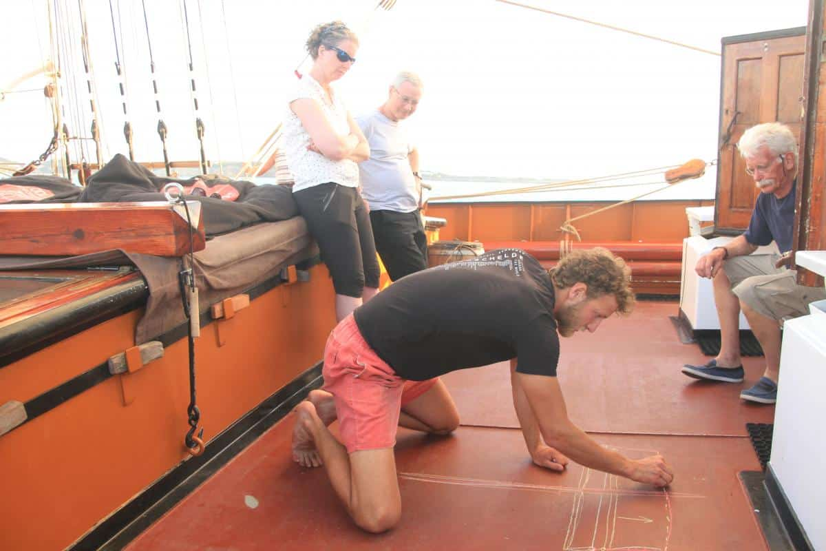 Square Sail Lessons in the Caribbean on Oosterschelde