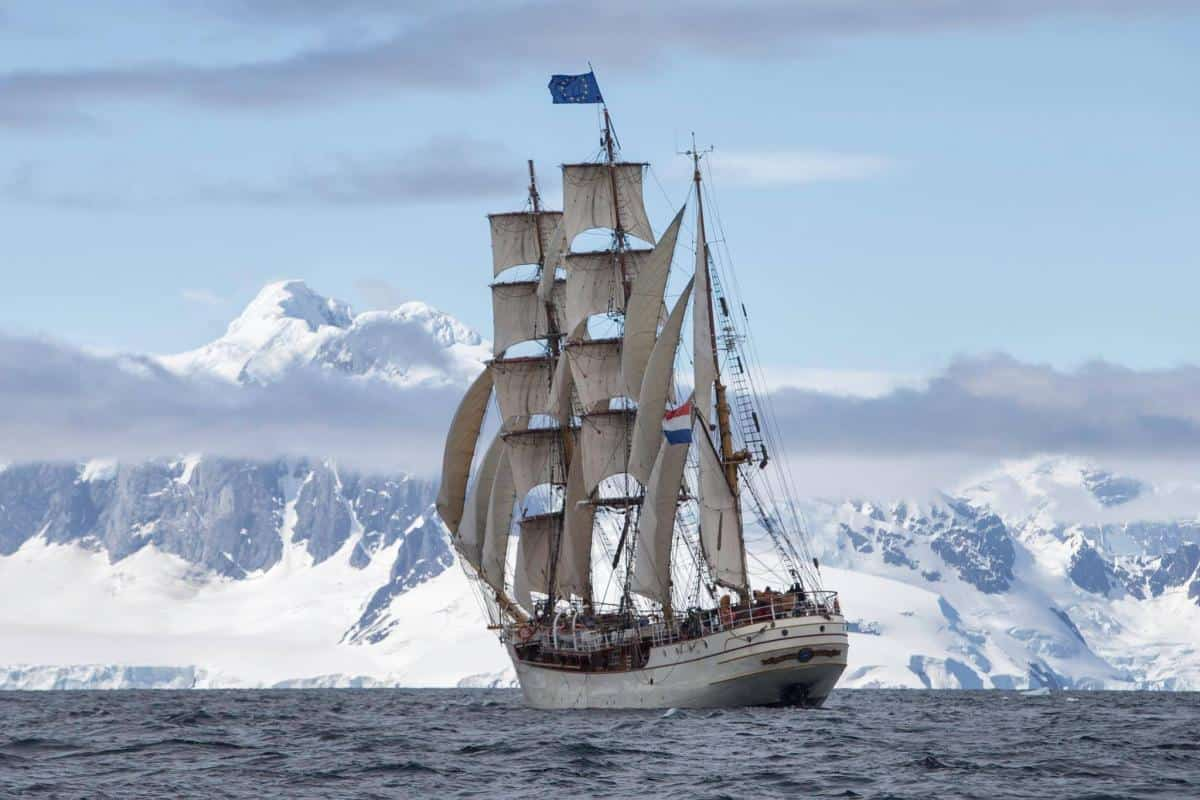There are many open stretches where you can sail on Europa in Antarctica. Its a big place