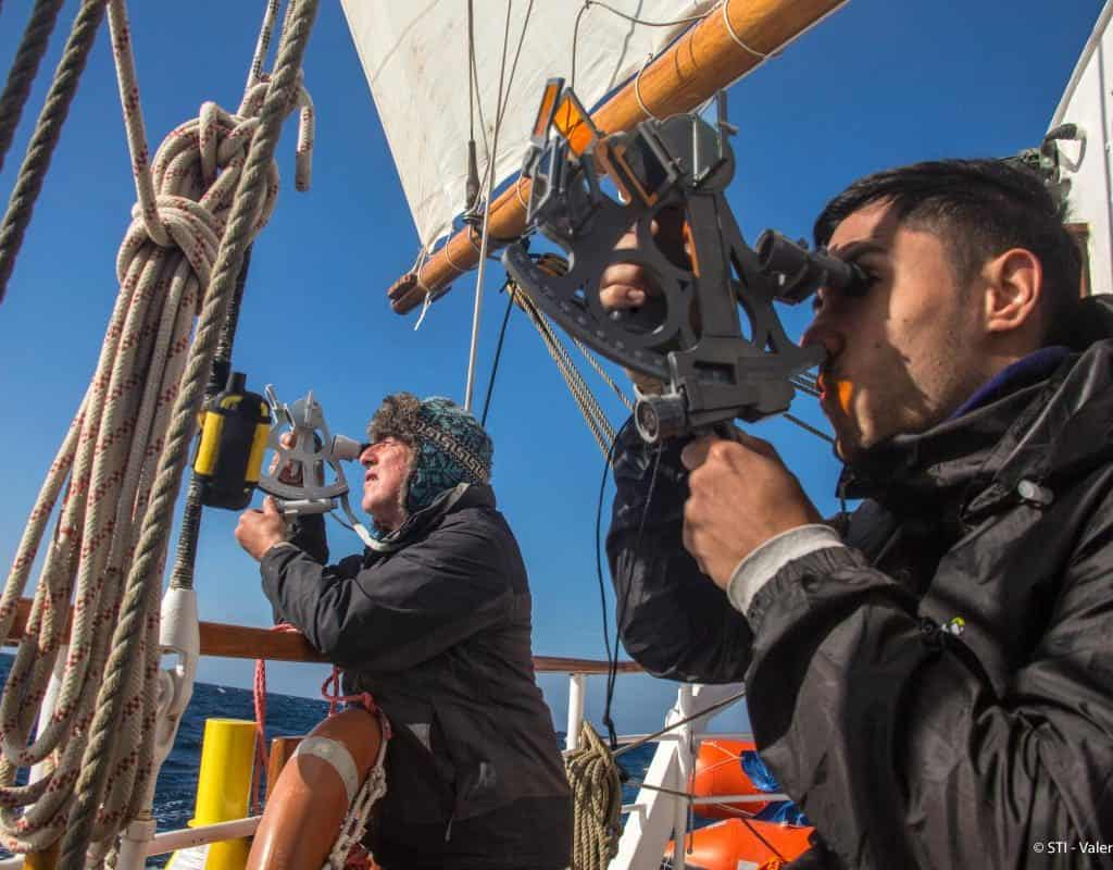 sailing on blue clipper with Classic Sailing