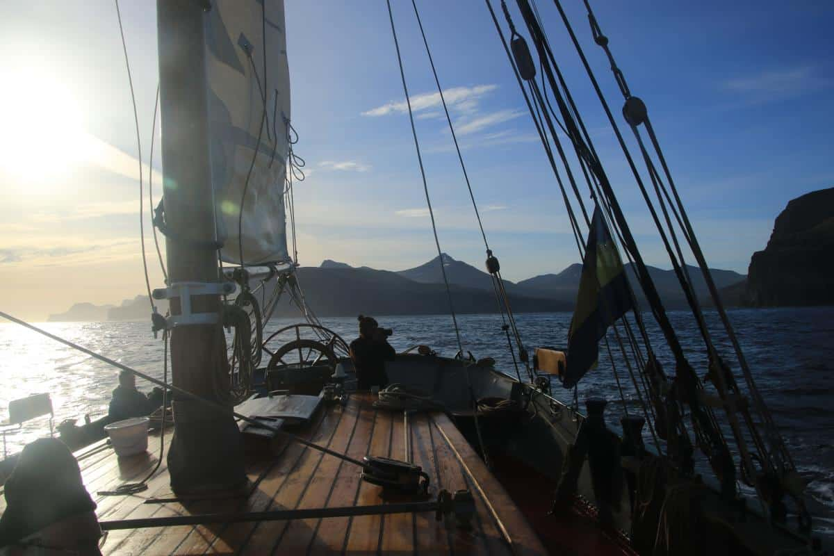 Tecla on a sailing expedition in the Faroes