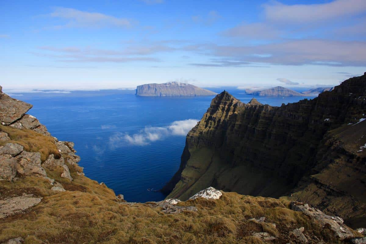 Faroes on a clear day.