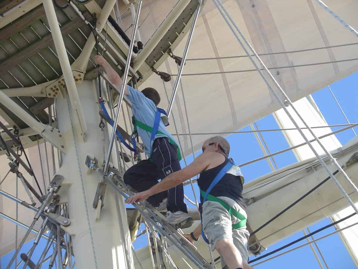 No experienced needed for Tall ship Sailing - Stage 1 is climbing to the first platform