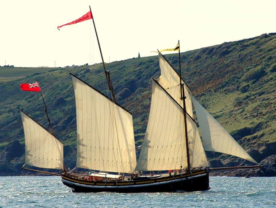 revenue lugger Grayhound off Devon coast