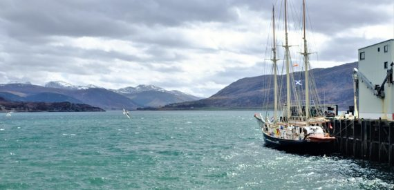 Blue clipper in scotland