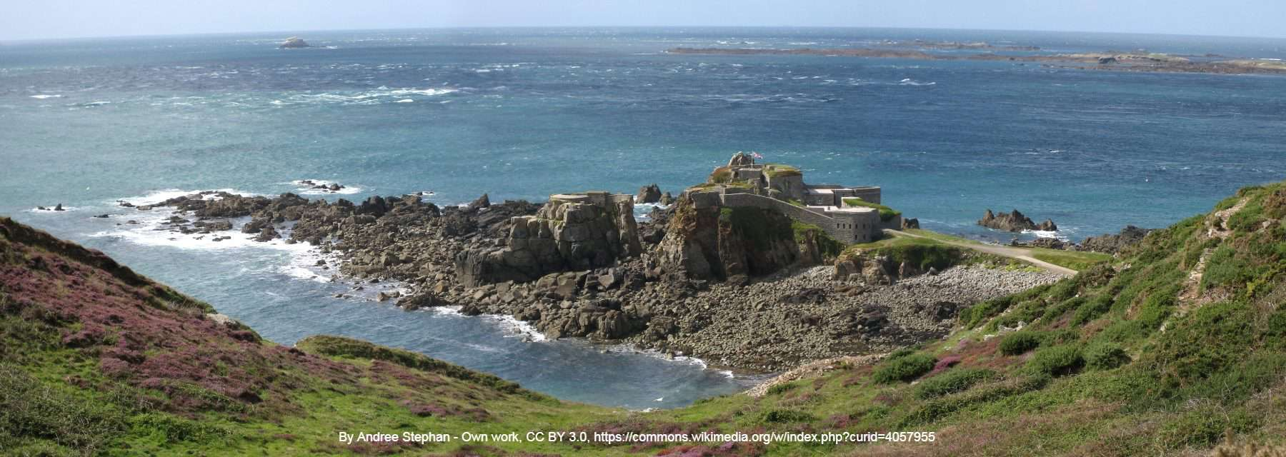 Alderney Fort Clonque credited in photo