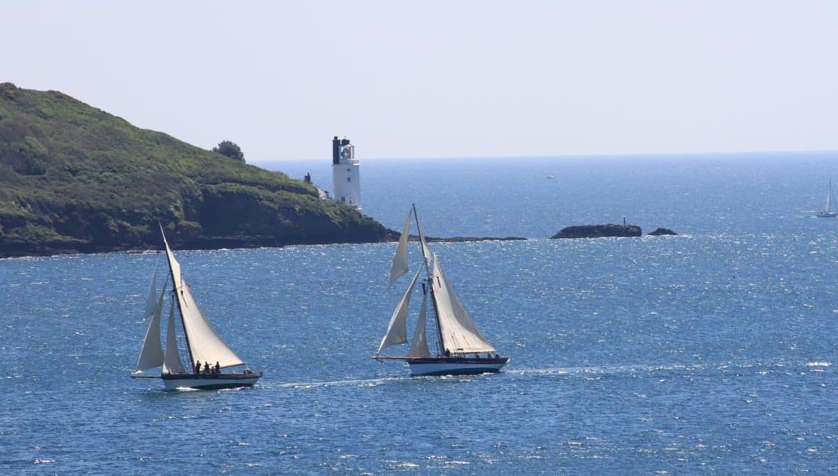 sailing in Cornwall.