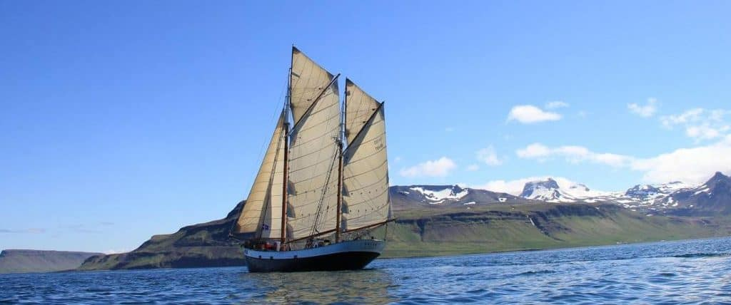 sailing in iceland