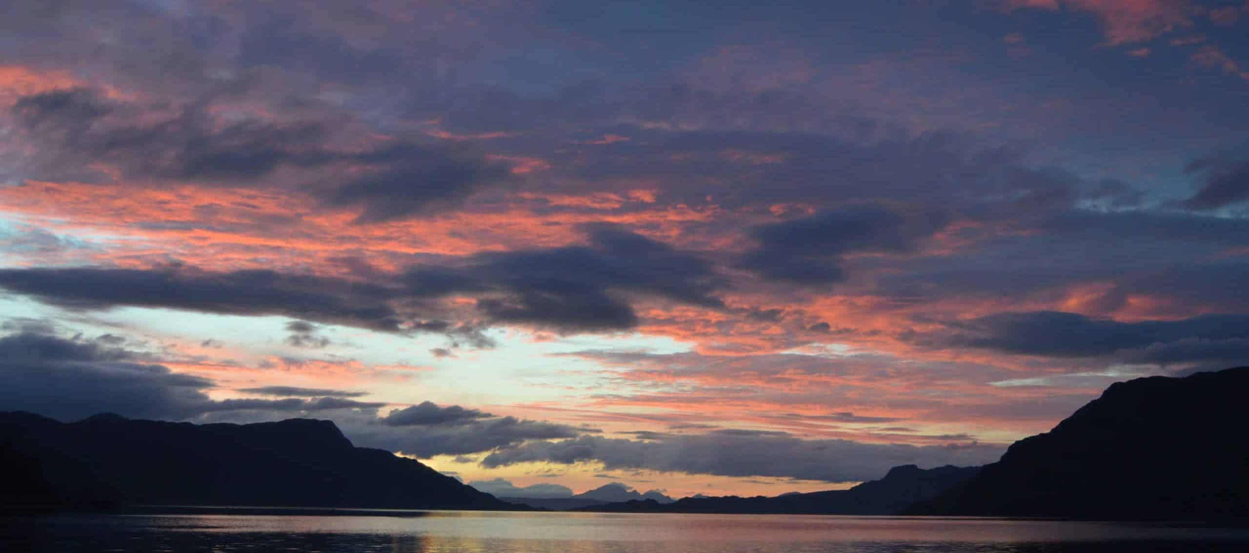 Enjoy amazing sunsets at anchor onboard leader on the west coast of scotland