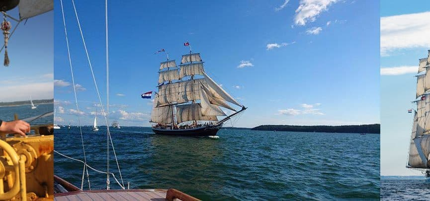 Tall Ship Sailing on Morgenster with Classic Sailing