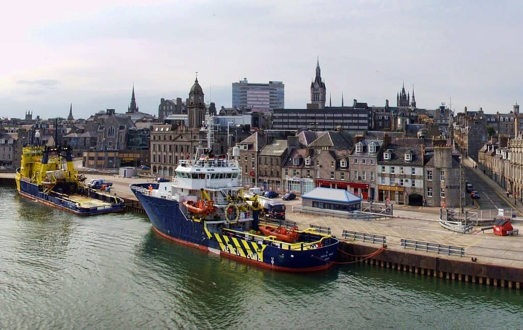 Aberdeen - offshore oil Support vessels