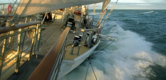 Tenacious has a bow sprit custom made to enable guests in a wheelchair to experience the bowsprit challenge.