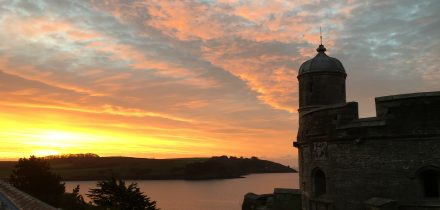 Sunrise St Mawes Castle Sailing on Maybe with Classic Sailing