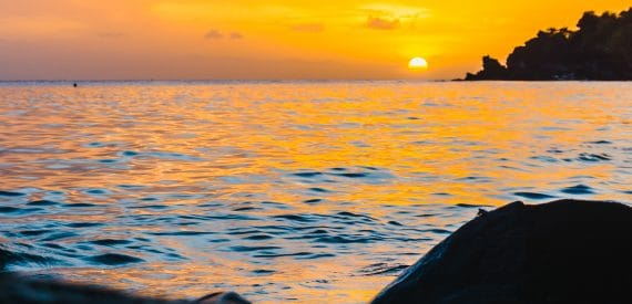Caribbean Sunset - The Caribbean on a Tall Ship Sailing Morgenster with Classic Sailing